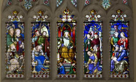 The Boole memorial window in the Aula Maxima.