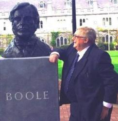 Des MacHale and George Boole Bust