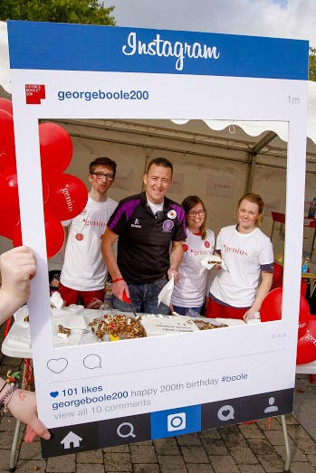 Student Societies celebrated George Boole's 200th Birthday on campus at University College Cork.