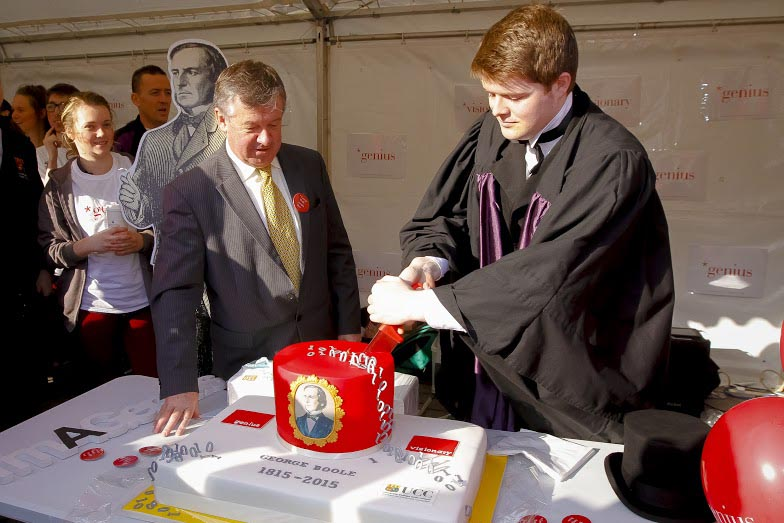 UCC Societies cut the cake at George Boole Day.