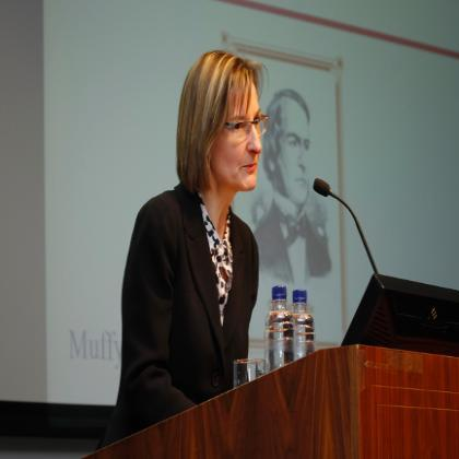 Professor Muffy Calder, OBE addresses the George Boole 200 Inaugural Lectures