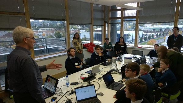 Students roadtest the Boole2School lessons at Microsoft Ireland.