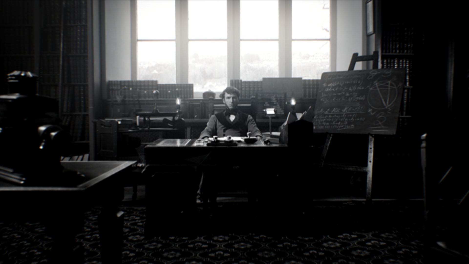 George Boole at work in his study